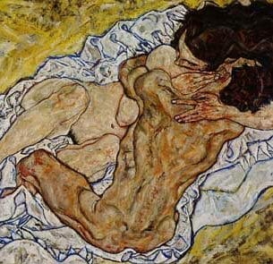 Egon Schiele – Embrace, AKA Lovers II Oil Painting Reproductions