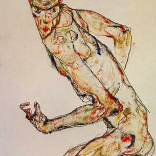 Egon Schiele – Fighter Oil Painting Reproductions