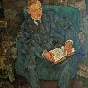 Egon Schiele – Portrait of Dr. Hugo Koller Oil Painting Reproductions