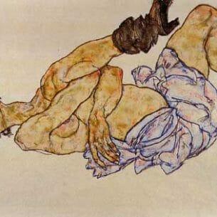 Egon Schiele – Reclining Female Nude