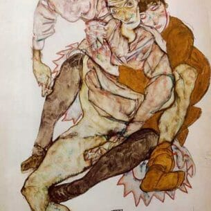 Egon Schiele – Seated Couple Oil Painting Reproductions
