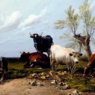 Cooper, Thomas Sidney – The Rustic Foot Bath Oil Painting Reproductions