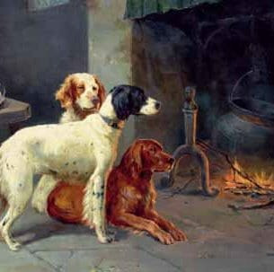 Alfred Duke – By the Fire Oil Painting Reproductions