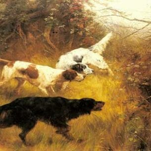 Blinks, Thomas(UK): Three Pointers in a Landscape Oil Painting Reproductions