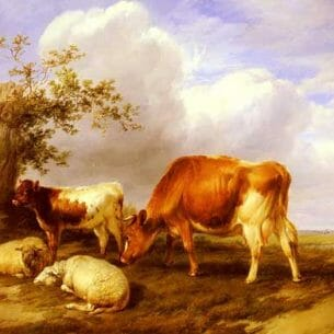 Cooper, Thomas Sidney(UK): In The Canterbury Meadows Oil Painting Reproductions