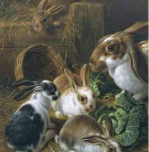 Alfred Barber – Feeding Time Oil Painting Reproductions
