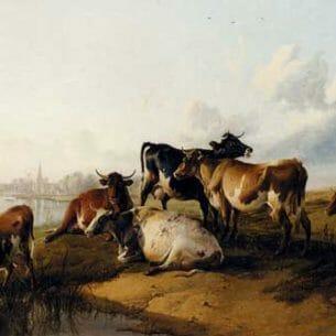 Cooper, Thomas Sidney: The Church Meadows