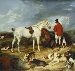 Edwin Henry Landseer – Hunters and Hounds Oil Painting Reproductions