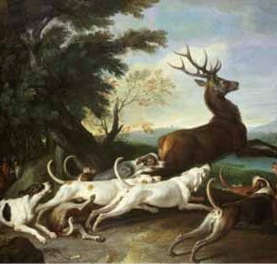 Alexandre-Francois Desportes – The Deer Hunt Oil Painting Reproductions