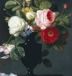 Antoine Berjon – Still Life of Roses Oil Painting Reproductions