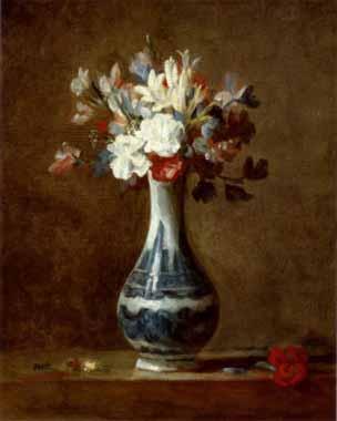 Chardin, Jean-Baptiste-Simeon – Vase of Flowers Oil Painting Reproductions