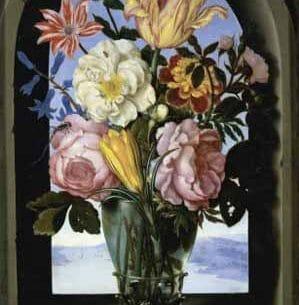 Bosschaert, Ambrosius the Elder – Bouquet of Flowers in an Arch