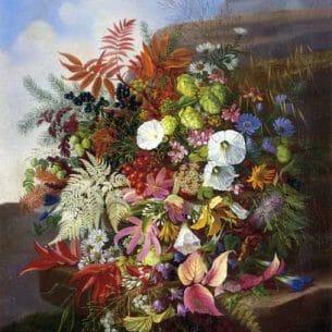 Adelheid Dietrich – Autumn Still Life with Blackberries