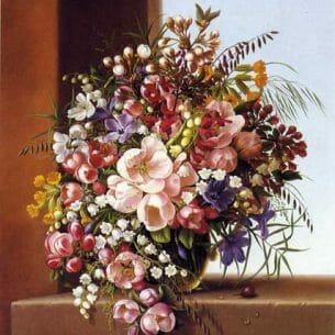 Adelheid Dietrich – Flowers in a Glass Bowl