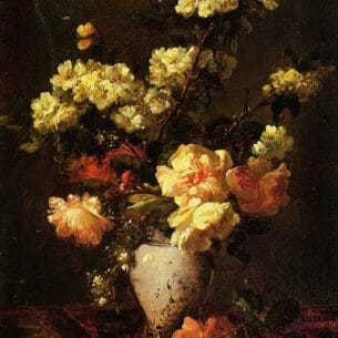 Antoine Vollon – Peonies and Apple Blossoms in a Chinese Vase