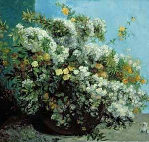 Courbet, Gustave – Flowering Branches and Flowers