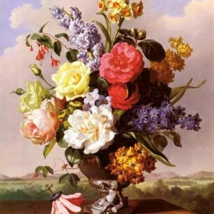A Hartinger: Flowers in an Urn