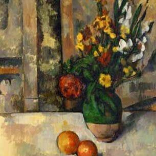 Cezanne, Paul – Vase and Apple