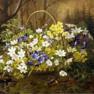 Anthonore Christensen – Anemones and Primroses in a Basket