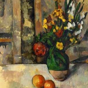 Cezanne, Paul – Vase and Apples Oil Painting Reproductions