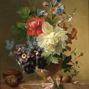 Arnoldus Bloemers – A Flower Still Life Oil Painting Reproductions