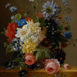 Arnoldus Bloemers – Still Life with Flowers Oil Painting Reproductions