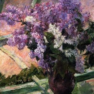 Cassatt,Mary – Lilacs in a Window Oil Painting Reproductions
