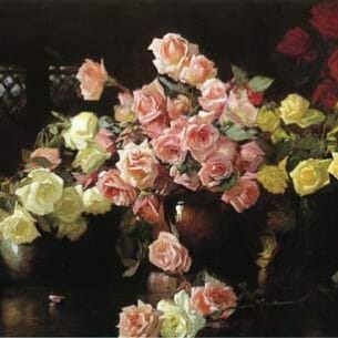 Camp, Joseph Rodefer de(USA): Roses Oil Painting Reproductions