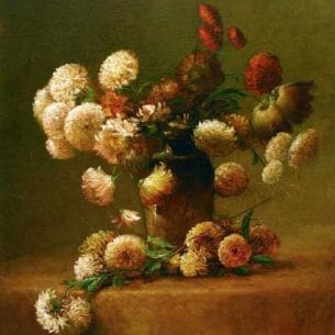 Charles Ethan Porter – Chrysanthemums Oil Painting Reproductions