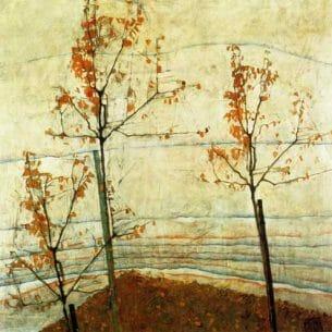 Egon Schiele – Autumn Trees Oil Painting Reproductions