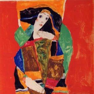 Egon Schiele – Portrait of a Woman Oil Painting Reproductions
