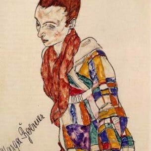 Egon Schiele – Portrait of Marga Boerner Oil Painting Reproductions