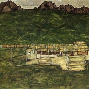 Egon Schiele – Sawmill Oil Painting Reproductions