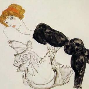 Egon Schiele – Woman in Black Stockings