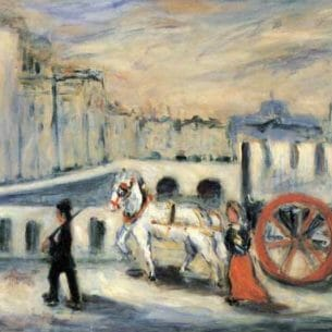 Emile-Othon Friesz(Fauvism): The Red Cart Oil Painting Reproductions