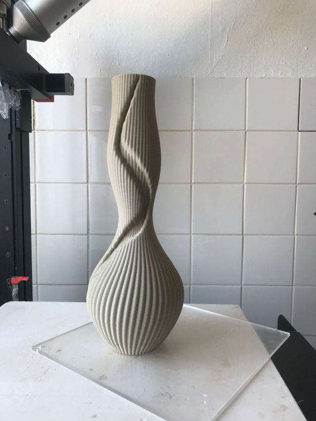 3d printed ceramic vase