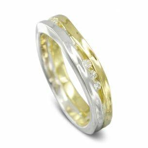 Two Colour Diamond Eternity Ring